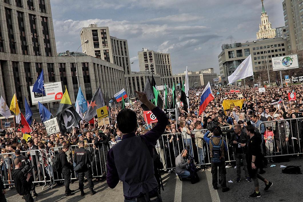 Акция протеста в Москве. Фото: Новое время