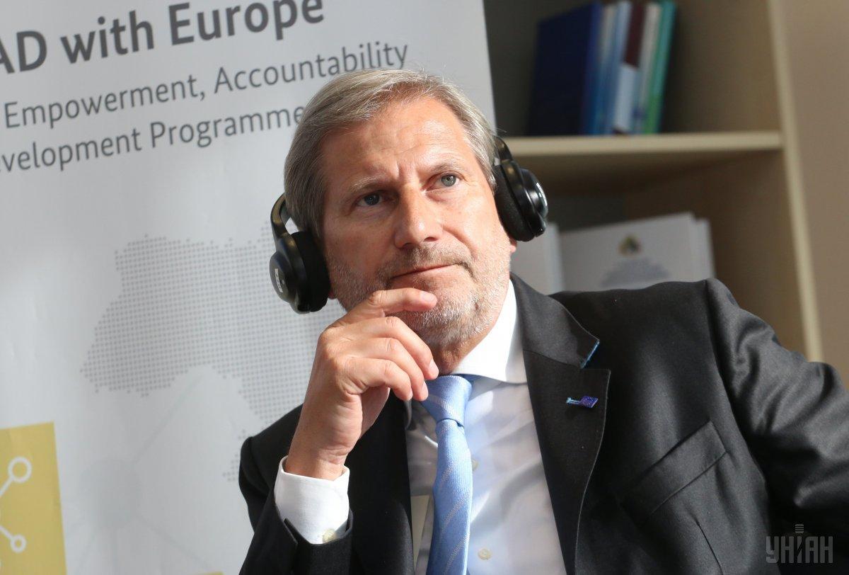 Йоханнес Хан считает борьбу с коррупцией в Украине слишком замедленной
