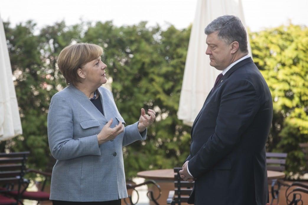 Ангела Меркель и Петр Порошенко.