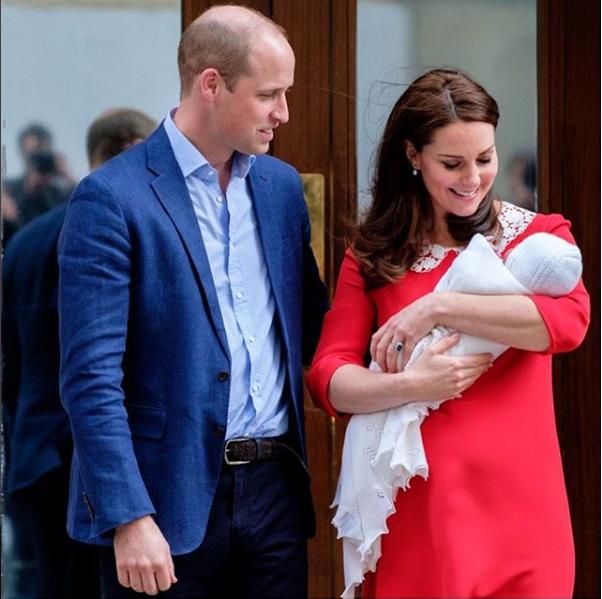 Впервые новорожденного сына Кейт Миддлтон и принц Уильям показали миру спустя всего 6 часов после родов / instagram.com/kensingtonroyal
