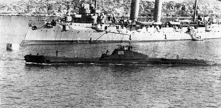 В Крыму достали с дна моря старинную субмарину