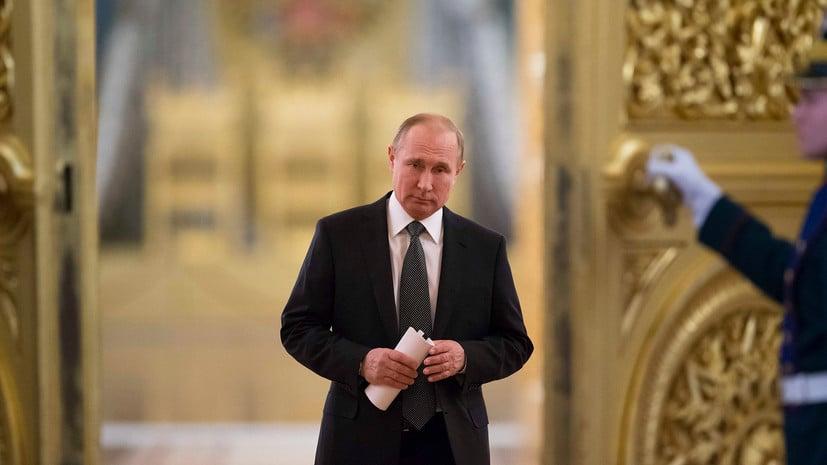 Владимир Путин на инаугурации в 2012 году.