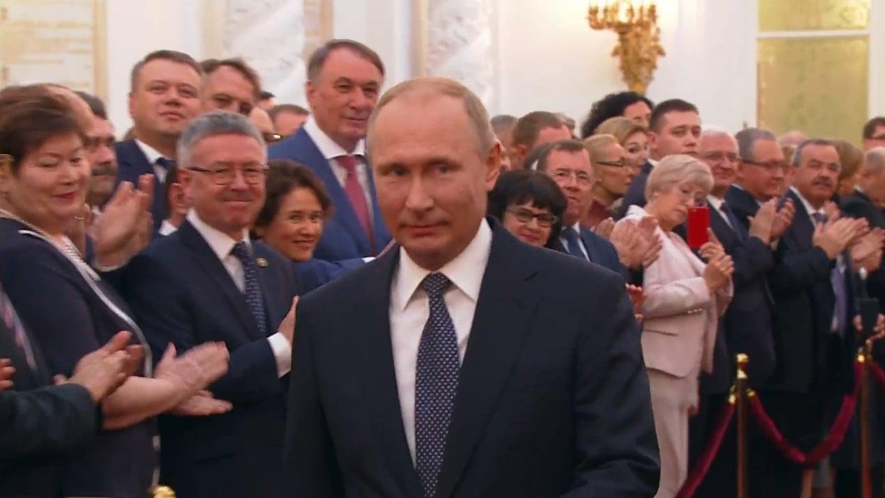 Инаугурация Владимира Путина 7 мая, кадр из видео