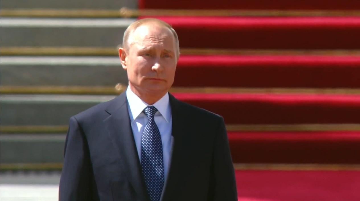 Инауграция Владимира Путина-2018. Кадр из видео