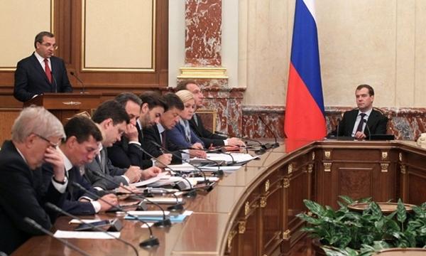 Дмитрий Медведев и члены правительства