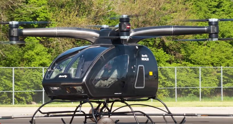 Аэротакси впервые поднялось в воздух с человеком на борту