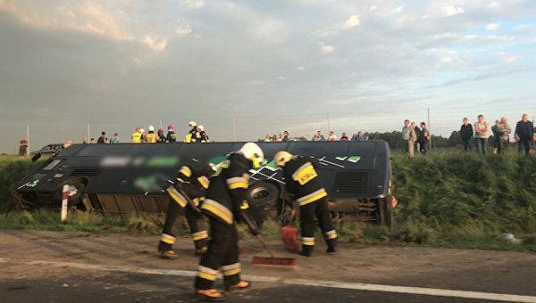 В Польше в результате ДТП с автобусом, в котором ехали украинцы, пострадал один человек