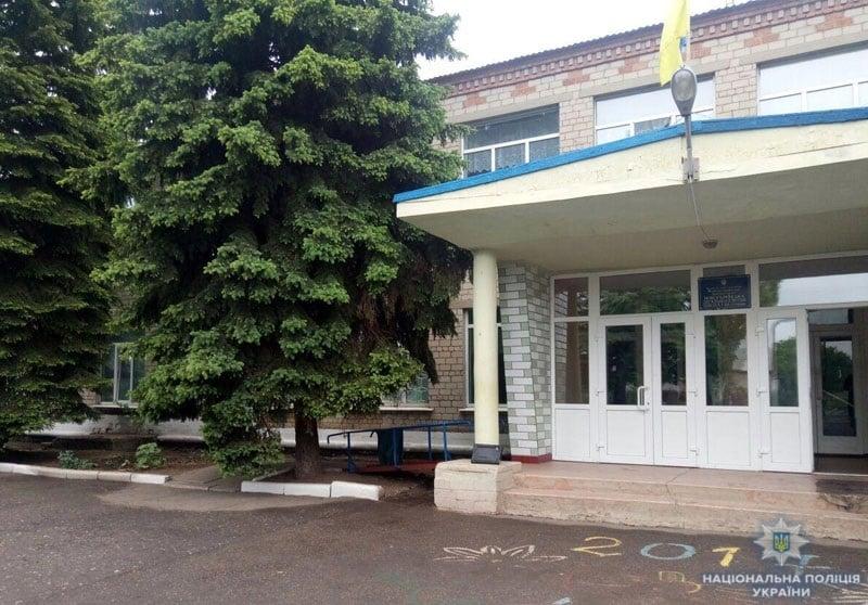 Школа в Новоукраинке. Фасад