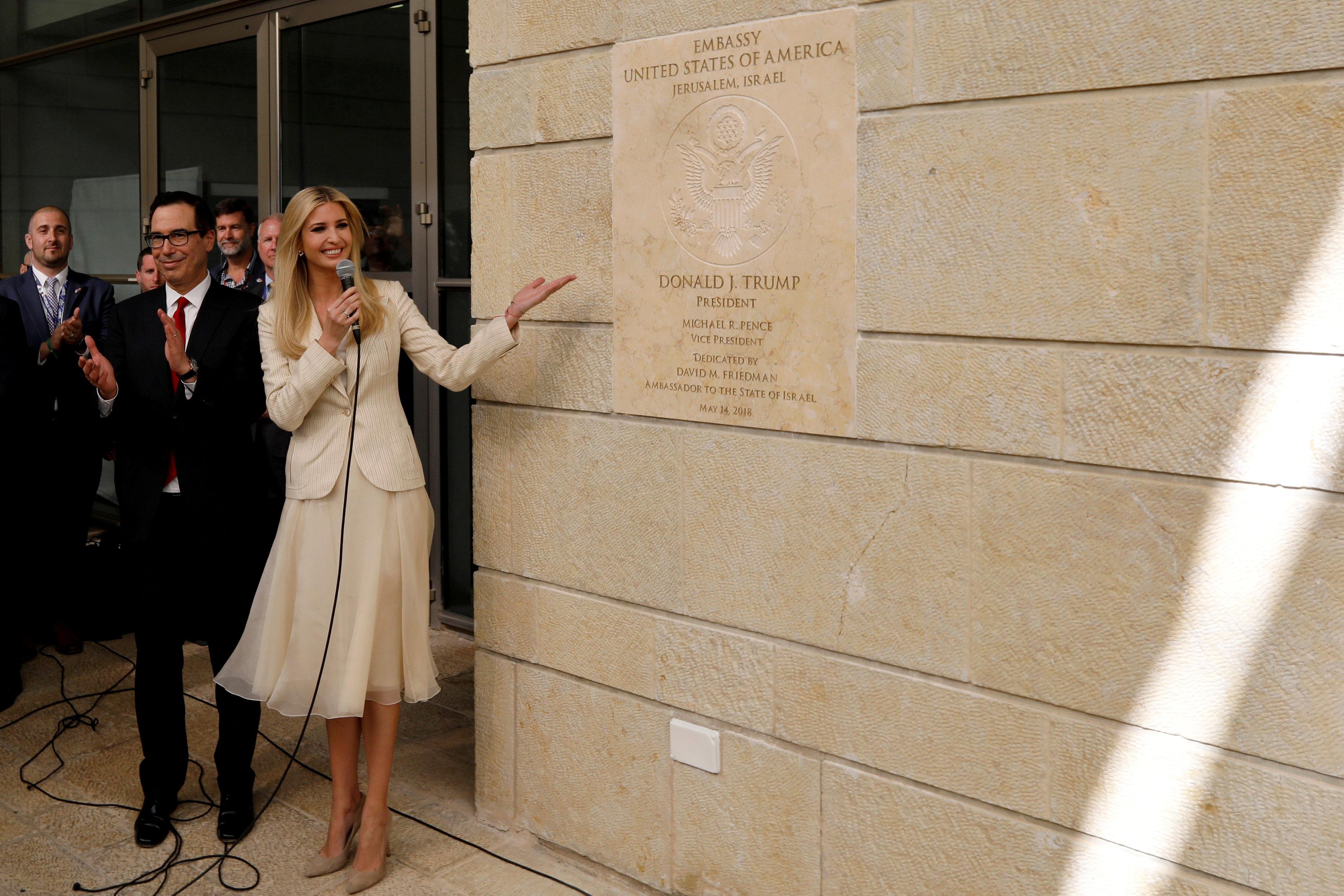 Иванка Трамп официально открывает посольство США в Иерусалиме.