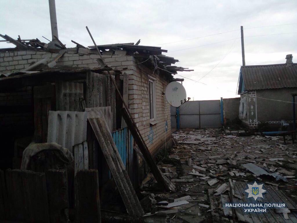 Обстрелы на Донбассе. Архивное фото.