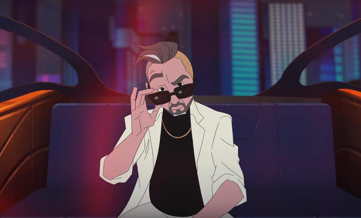 Сергей Шнуров появляется в клипе в образе анимационного гангстера