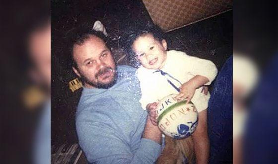 Меган и ее отец Том