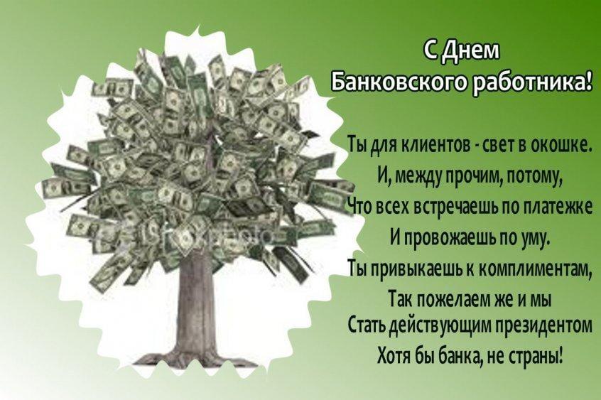 Открытки поздравление банку