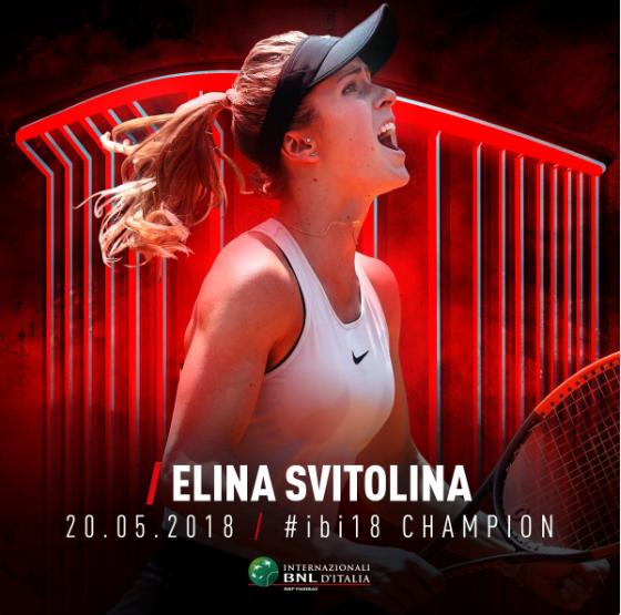 Свитолина выиграла турнир в Риме-2018.