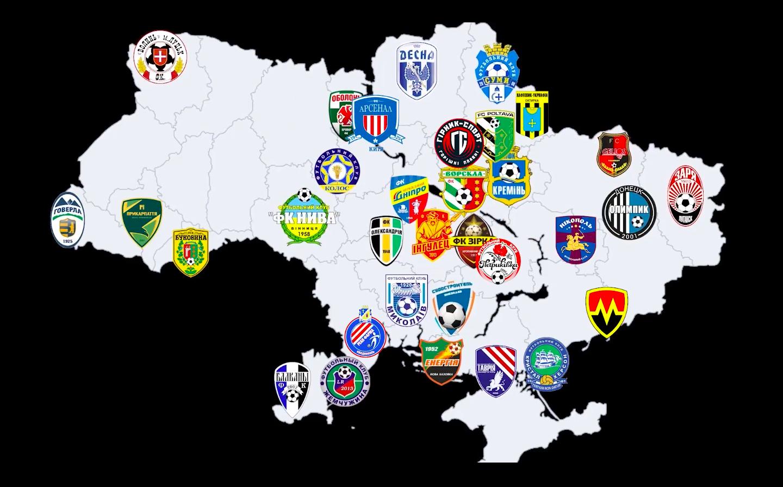 Карта клубов, подозреваемых в договорных матчах