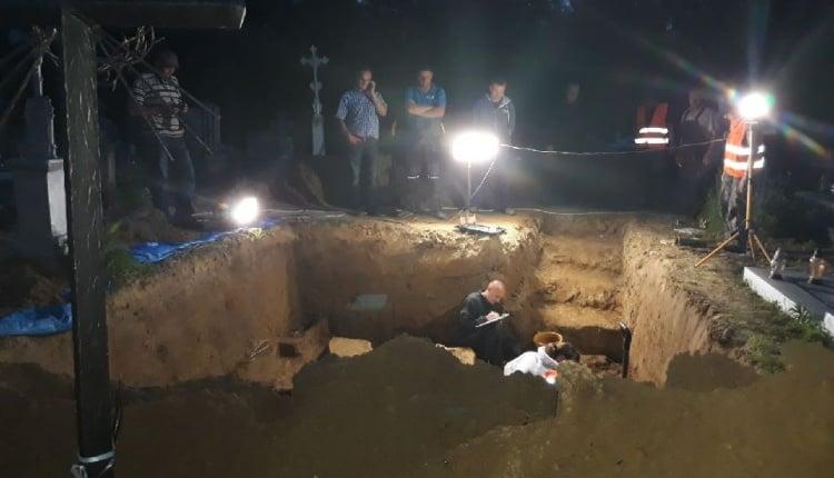 В Польше раскопали украинскую могилу
