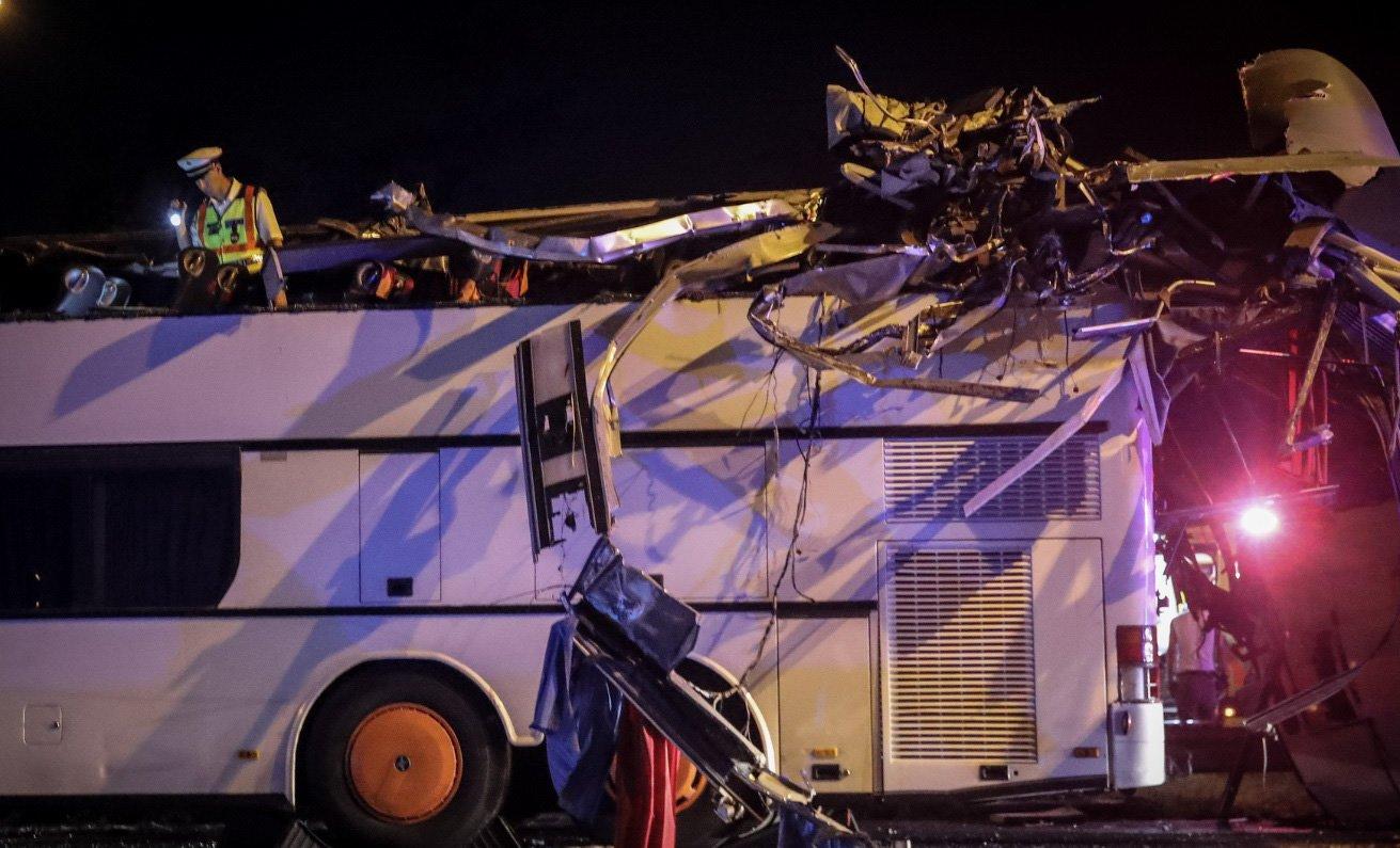 В Будапеште попал в ДТП автобус из Украины