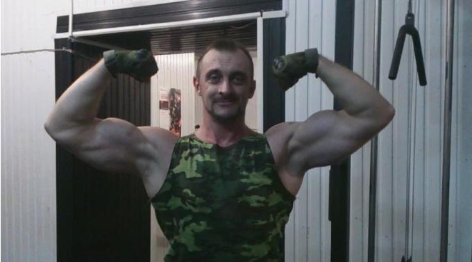 Евгений Листопад до военного конфликта на Донбассе занимался бодибилдингом