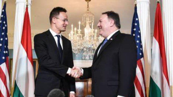 Помпео на официальной встрече с Сиярто коснулся украинского вопроса