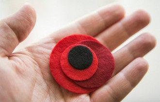 Символом Дня памяти является красный мак