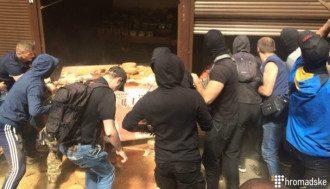 """Во время погрома на рынке """"Лесной"""" вся полиция защищала магазин Roshen - соцсети"""