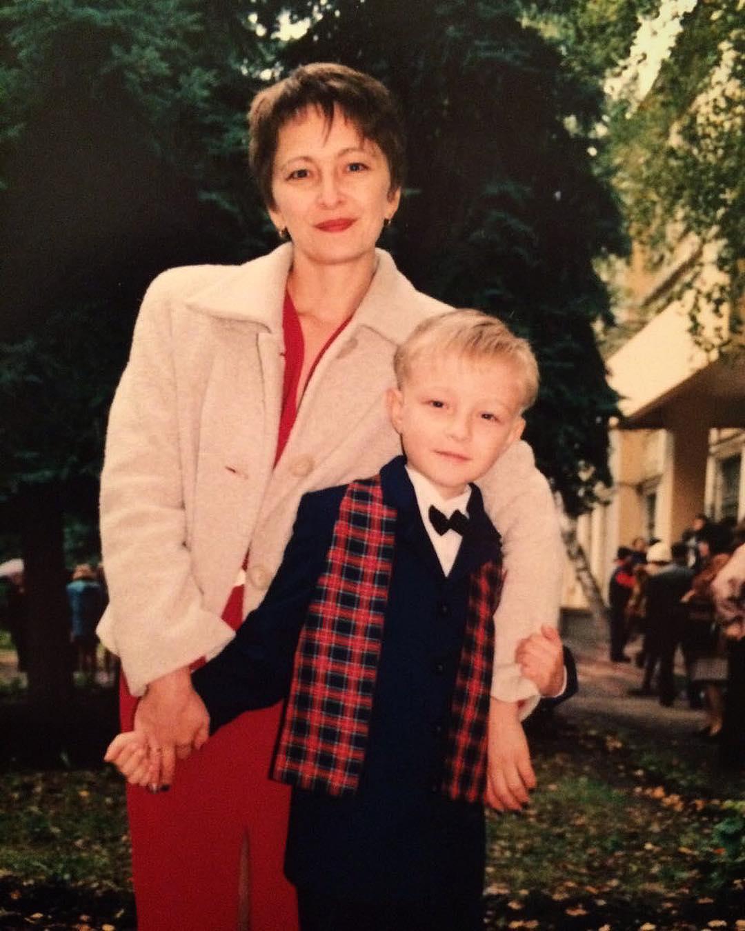 Егор Крид с мамой в школьные годы