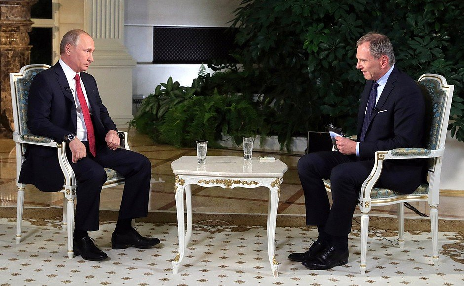 Путин дал интервью австрийскому телеканалу ORF