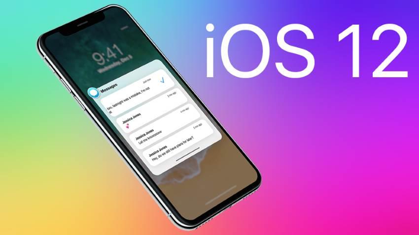 Смартфон с iOS 12