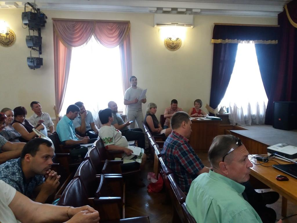 Заседание Подольского районного совета Кропивницкого