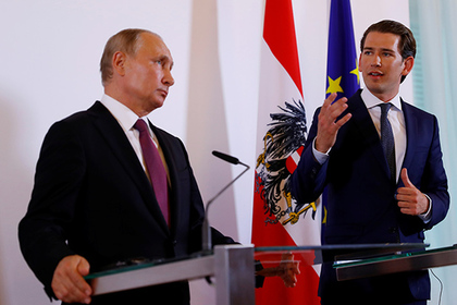 Курц хорошо встретил Путина, но санкции решил поддержать