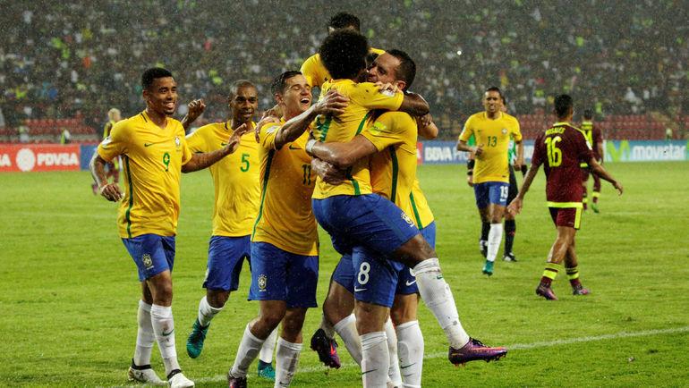 Игроки сборной Бразилии