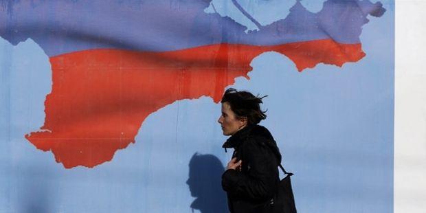 Карта в аннексированном Крыму