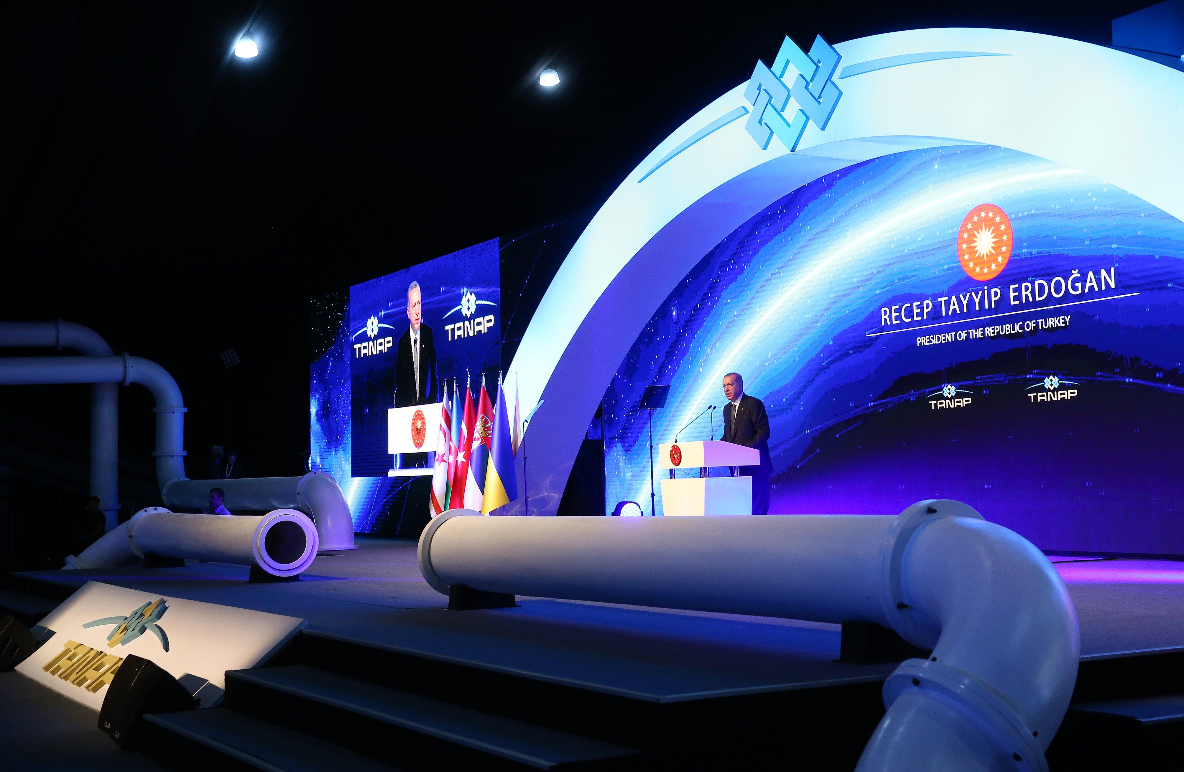Эрдоган презентовал новый газопровод.