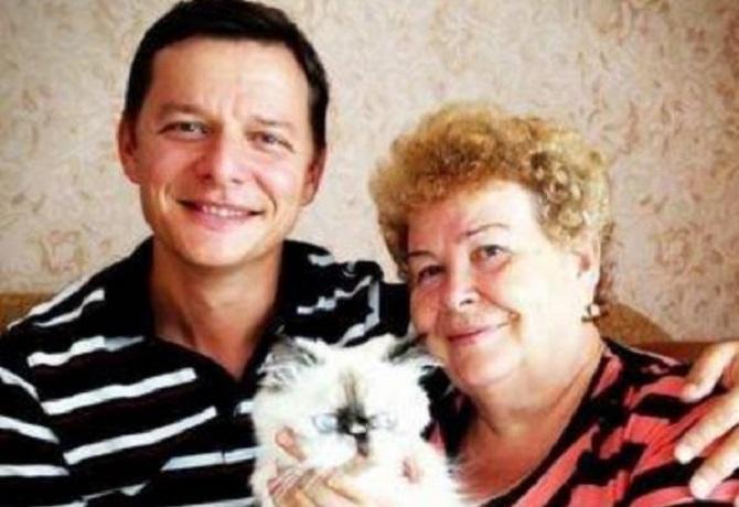 Олег Ляшко с матерью