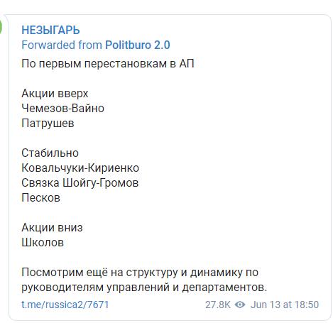 Какие игроки в окружении Путина усилились, а какие ослабли.