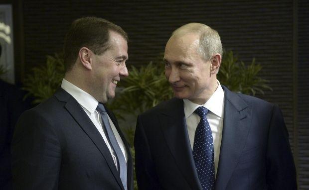 Эксперт полагает, что Владимир Путин и Дмитрий Медведев — пара
