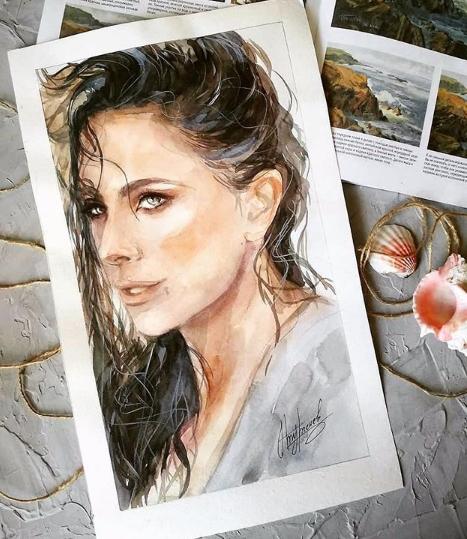 Ани Лорак показала свой портрет