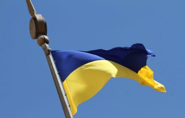 В Одессе некоторые коммунальщики не уважают украинский флаг