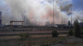 Пожар в Чернобыльской зоне.