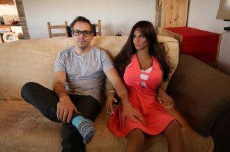 Саманта со своим создателем