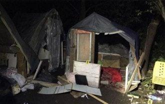 Именно так выглядел ромское поселение после погрома