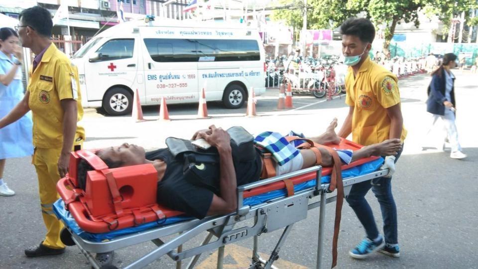 Пострадавший сразу после инцидента