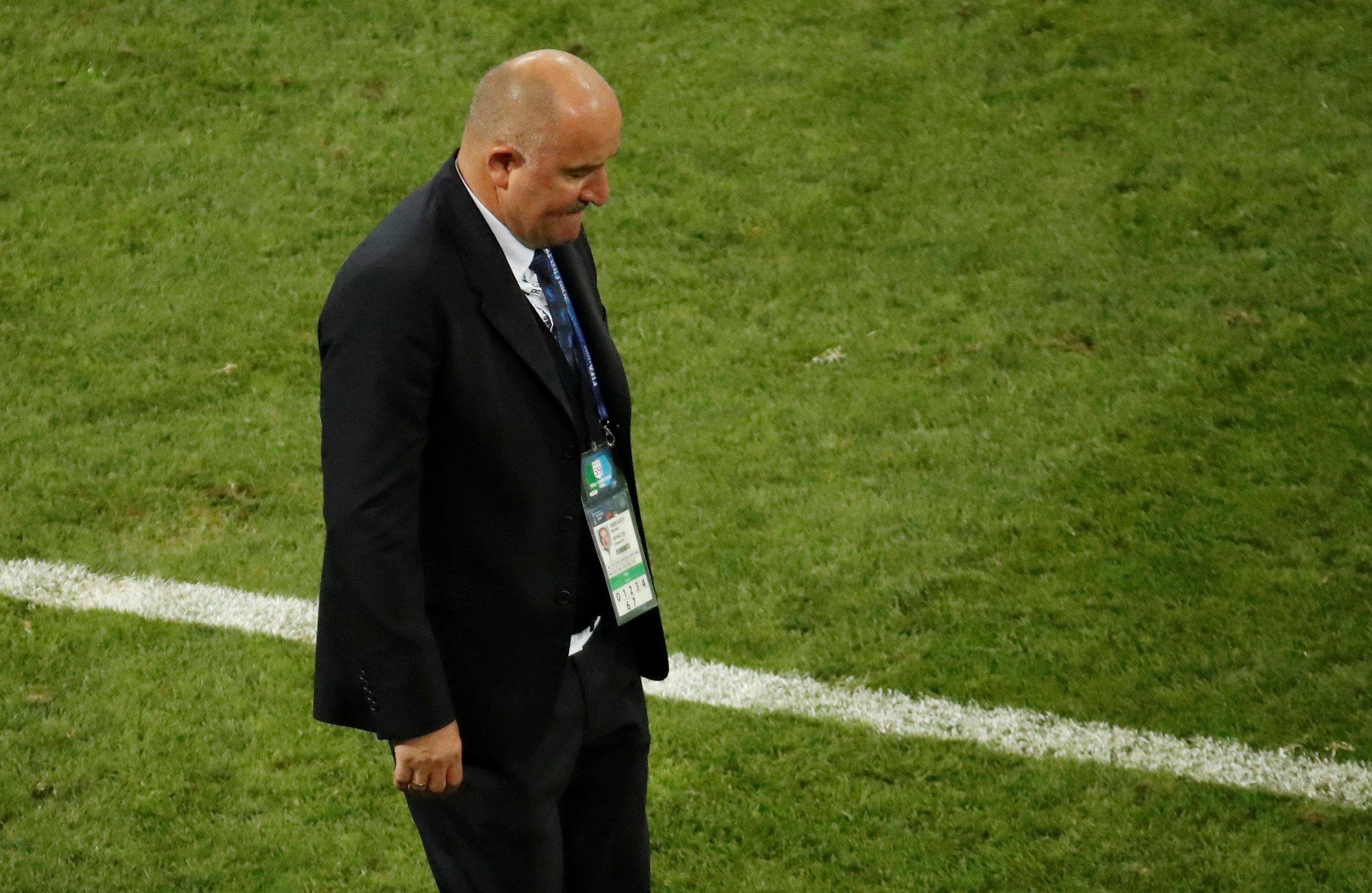 В матче 1/4 финала ЧМ-2018 против сборной Хорватии россиянам не хватило везения, сказал Станислав Черчесов