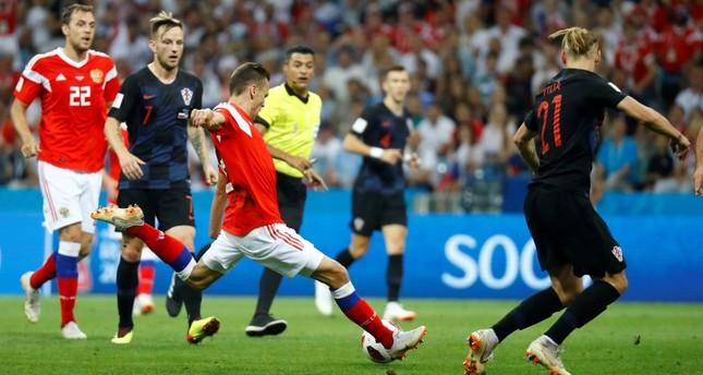 Эпизод  матча Хорватия - Россия