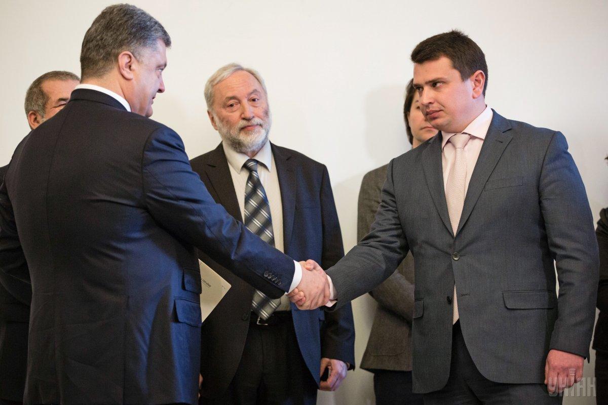 Петр Порошенко и Артем Сытник.