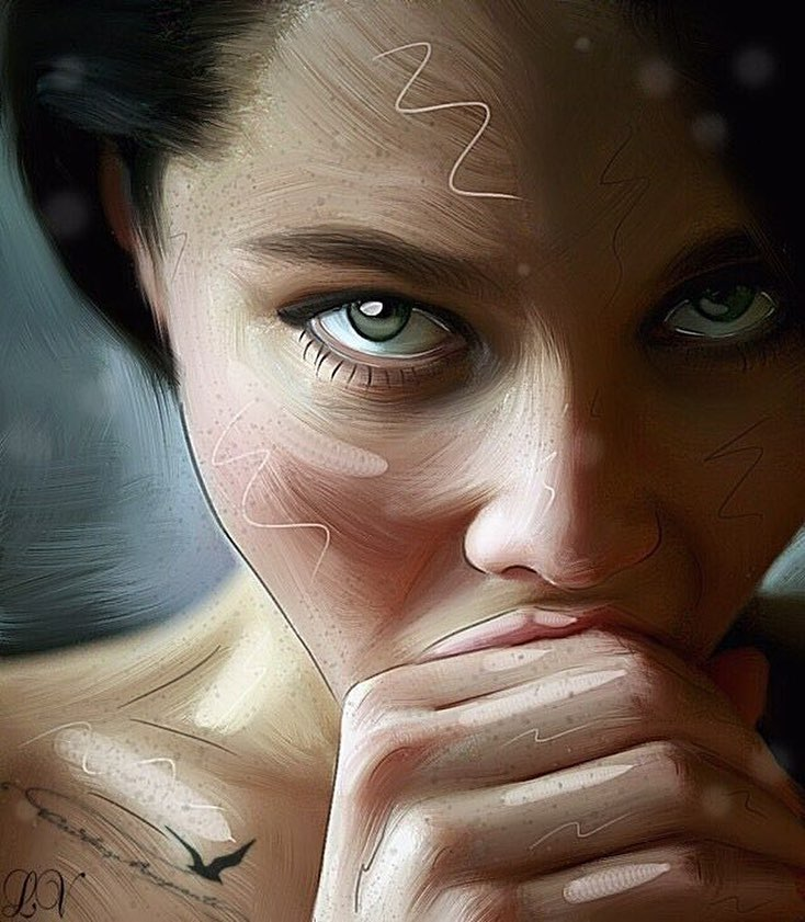 Анастасия Самбурская поделилась картиной неизвестного художника