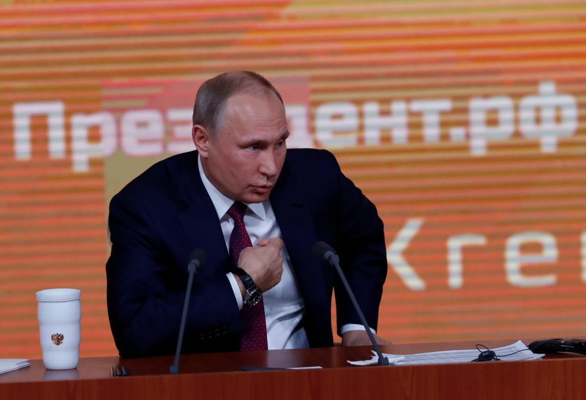 Путин выступает