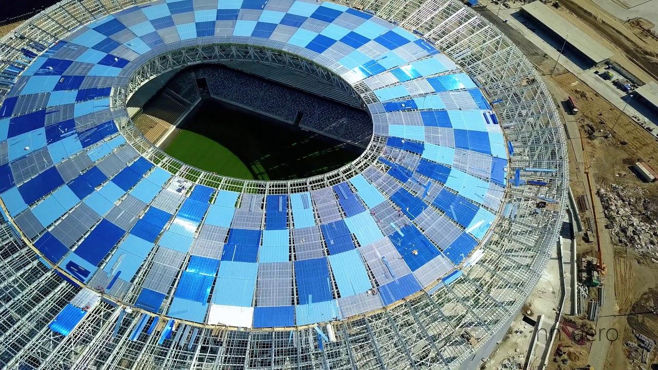 Крыша нового стадиона не пережила первый хороший ливень
