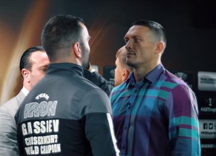 Александр Усик и Мурат Гассиев сразились взглядами