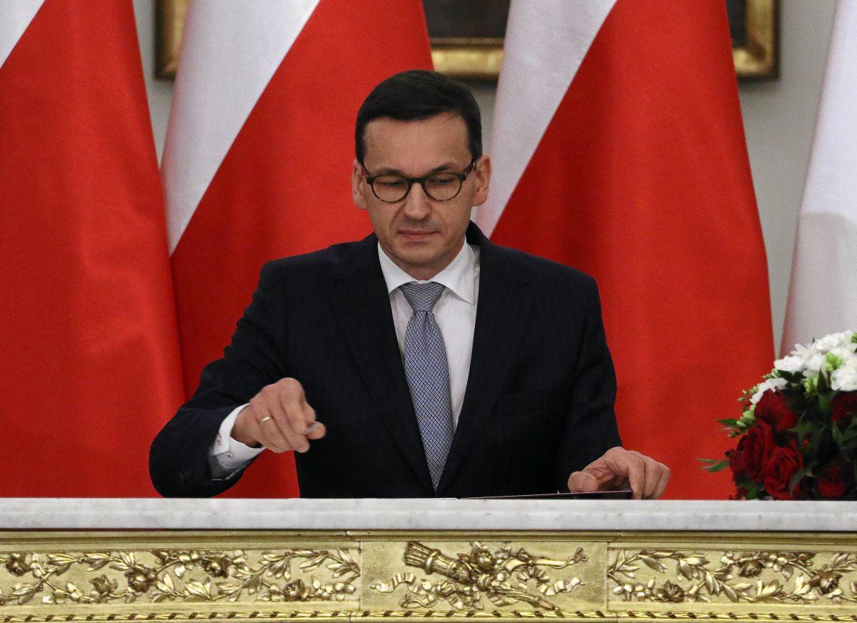 Матеуш Моравецкий, польский премьер